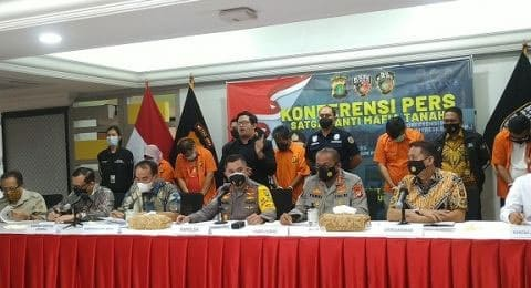 Polda Banten Bongkar Kasus Mafia Tanah