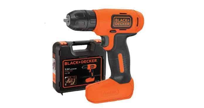 Mesin Bor Cordless Black + Decker Bor Cordless Drill Driver 7.2V BDCD8K-B1