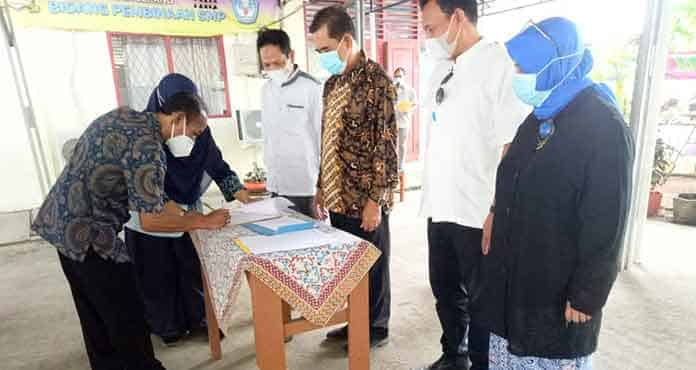 Wasit Dewanto Pimpin Sertijab di Dindikbud Kota Serang
