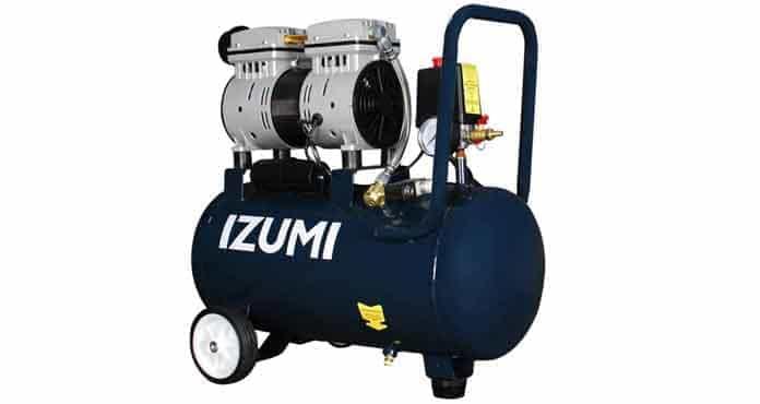 IZUMI 1 HP 24 liter Oilless Compressor - Kompresor listrik SILENT