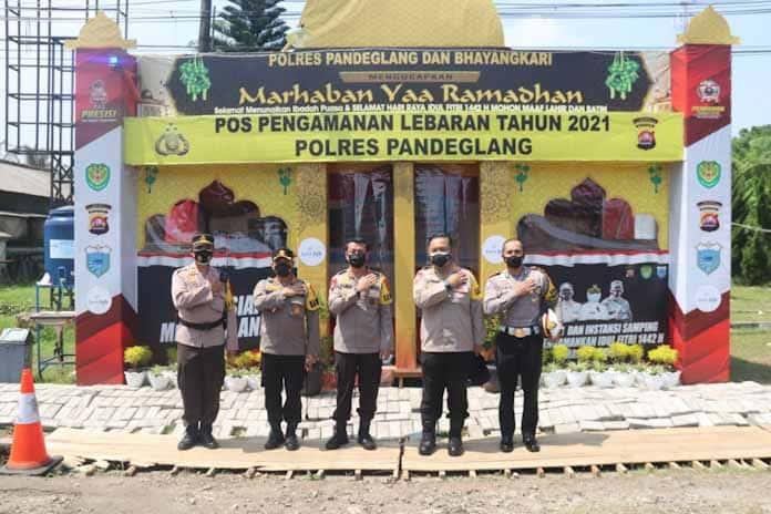 Kapolda Banten Tinjau Pos Penyekatan Gayam di Kabupaten Pandeglang