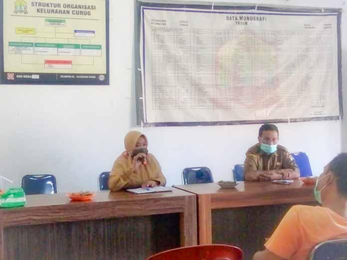 Kelurahan Curug Halal Bihalal dan Koordinasi PPKM Sekaligus Bentuk Pengurus BKM