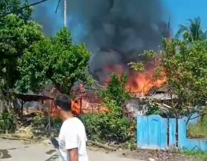 Empat Rumah Warga di Lebak Hangus Terbakar, Kerugian Ditaksir Ratusan Juta Rupiah