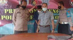 Polisi mengamankan jambret kalung anak-anak di Kabupaten Serang.