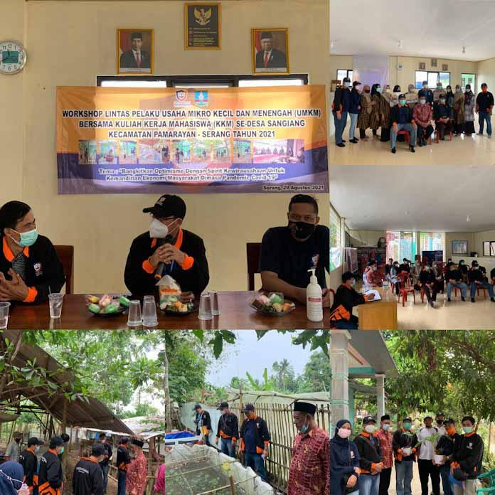 Rektor Dan Civitas UPG Buka Workshop UMKM Kelompok 13 di Desa Sangiang