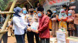 Peduli Pandemi, Kadin Bersama Polda Banten Salurkan Sambako Ke Ponpes dan Masyarakat