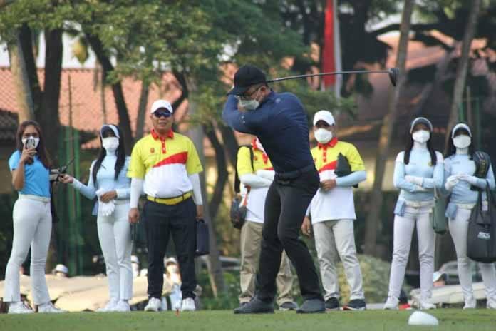 Wagub Andika Buka Banten Golf Open Tournament 2021, Diikuti Peserta Pro dan Amatir