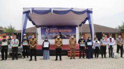 Gubernur WH dan Wagub Andika saat menghadiri Peringatan Sewindu RSUD Banten di Jl. Syech Nawawi Al Bantani, Kelurahan Banjarsari, Kecamatan Cipocok Jaya, Kota Serang, Senin (11/10/2021).